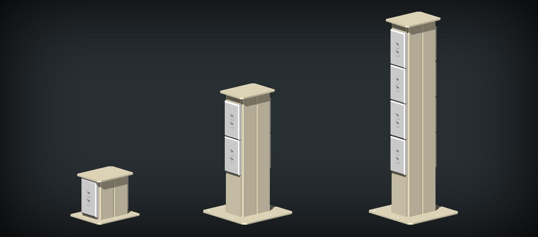 Pedestal Electrical Outlets : Pedestals multi channel network cable management